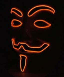FAWKS MASK ORANGE
