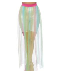 Goddess Multi Slit Sheer Rainbow O/S