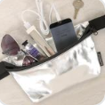 FYDELITY- Ultra-Slim Fanny Pack METALLIC Silver