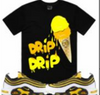 ICE CREAM BLACK W YELLOW PLANET OF THE GRAPES T-SHIRT