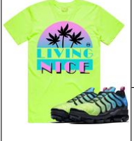 LIVING NICE NEON PLANET OF THE GRAPES T-SHIRT