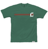 FRONT RUNNER STRIPED TEE FOREST GREEN
