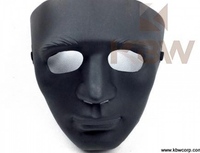 Black Plastic Full Face Mask