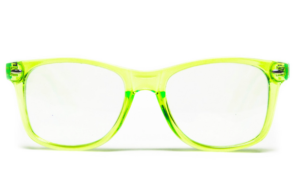 GloFX Transparent Green Ultimate Diffraction Glasses