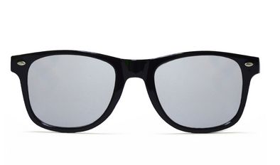 GloFX Diffraction Glasses - Black - Silver Mirror