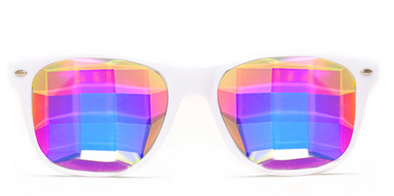 GloFX Bug Eye Ultimate Kaleidoscope Glasses -White