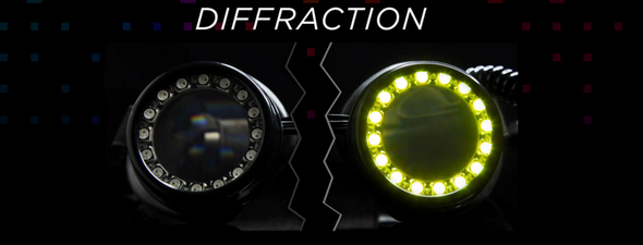 GloFx Pixel Pro Diffraction LED Goggles