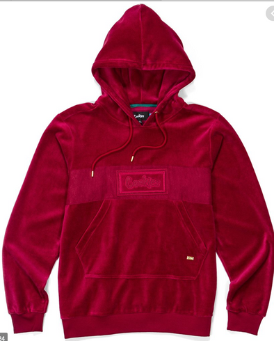 FIFTH AVE SUEDE HOODY W/ LOGO