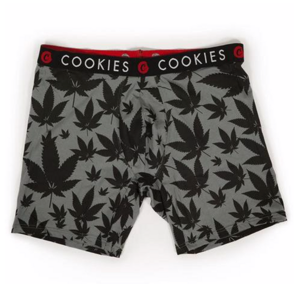 COOKIES LEAF PRINT BOXER BRIEFS - GRY