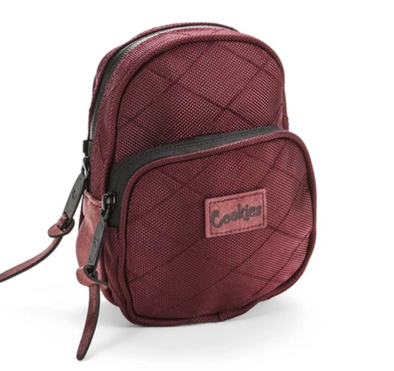 COOKIES V2 1680 QUILTED NYLON MINI SMELL PROOF PACK BURGUNDY