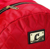 COOKIES V3 QUILTED NYLON SMELL PROOF BACKPACK  W/ MICRO SUEDE & GOLD TRIM RED