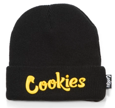 COOKIES THIN MINT EMBROIDERED KNIT BEANIE - BLK/YEL