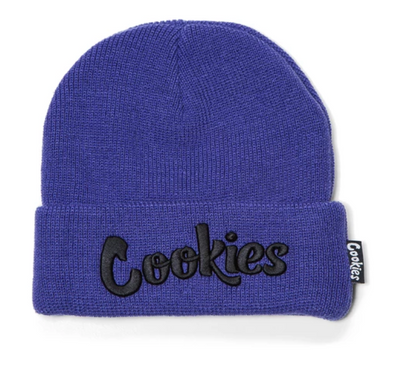 COOKIES THIN MINT EMBROIDERED KNIT BEANIE - DEEP PURPLE / BLACK