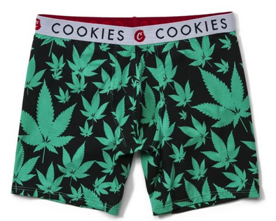 COOKIES LEAF PRINT BOXER BRIEFS - GRN