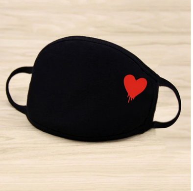 DUST MASK RED HEART