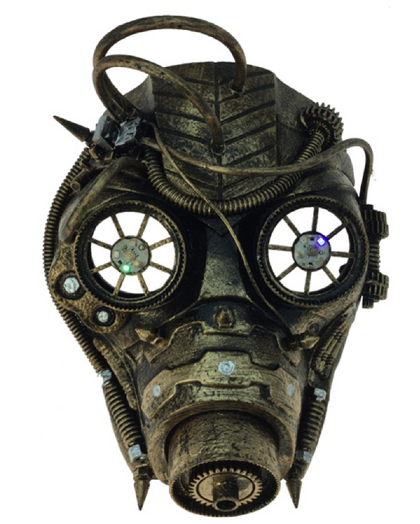 STEAMPUNK PIRATE MASK - GOLD
