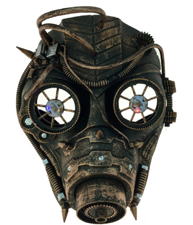 STEAMPUNK PIRATE MASK - COPPER