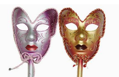 Venetian mask with stick