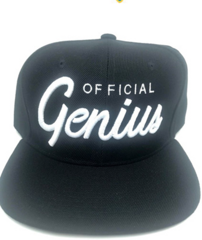 Official Genius Black Script SnapBack