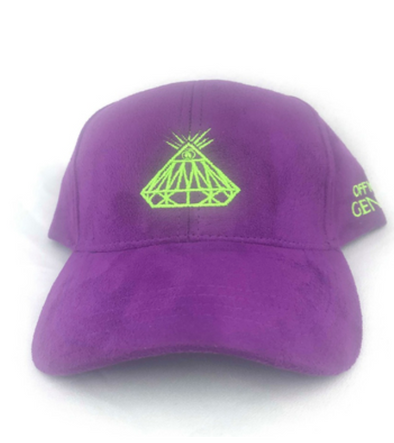 Official Genius Purple Alien Diemondeye felt Strapback