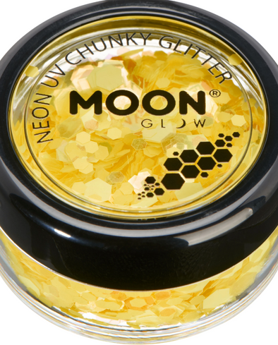 Moon Radio Active UV Body & Face Glitter Yellow