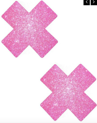 Plus X Solid Glitter Nipple Pasties