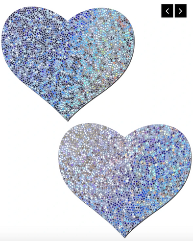 Heart Solid Glitter Nipple Pasties (Available in 4 colors )