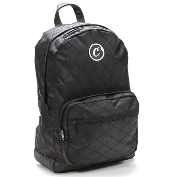 COOKIES V2 1680 QUILTED NYLON SMELL PROOF BACKPACK W/ POUCH CASE BLACK