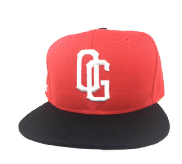 OG red white and black snapback hat