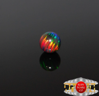 5mm Black Rainbow Opal Pearl (1 PACK)