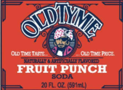 Old Tyme Fruit Punch Soda Exotic Pop