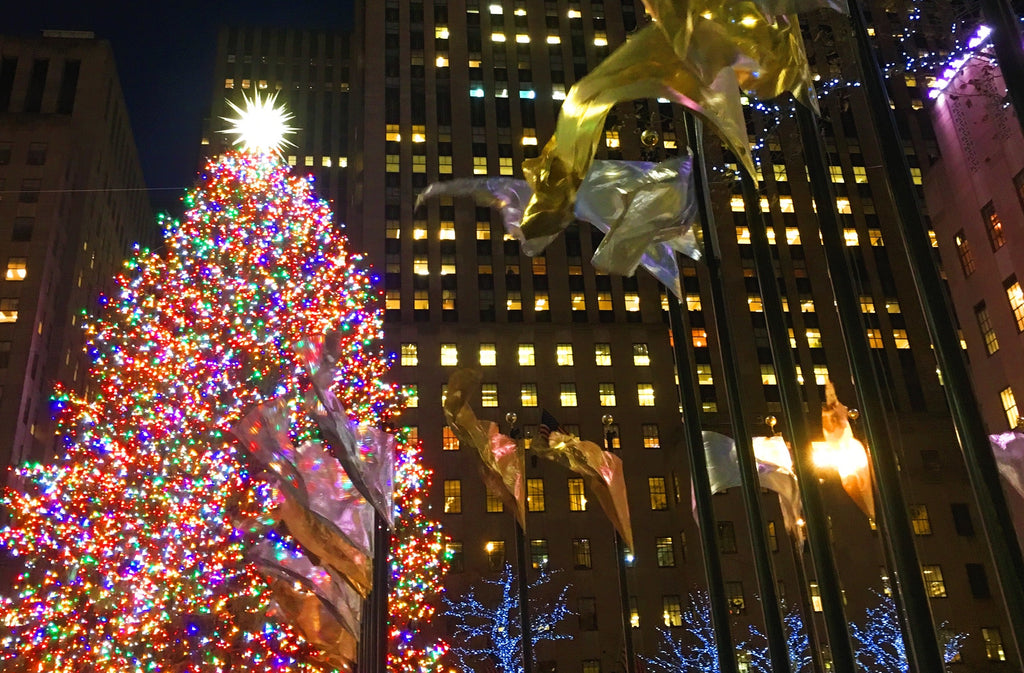 Best places to travel for holidays - New York City Rockefeller Center Christmas tree