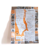 Best travel guide unique travel gift New York Doughnut Map inside