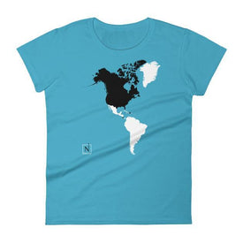 caribbeanblue-black women's places I've been world map front