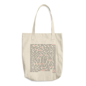 countries I've visited denim tote bag
