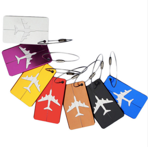 Aluminum Metallic Luggage Tags | Name & Address Label Holder