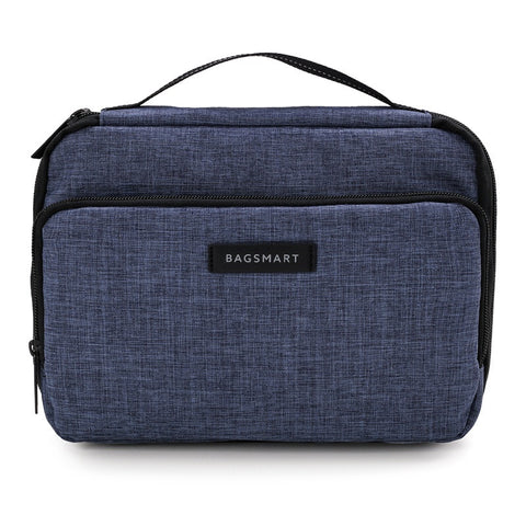 "Bagsmart Portable 3 layer Electronics Accessories Bag for 9.7"" iPad, Hard Drives, Cables, Charger, Kindle"