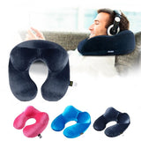 U-Shape Travel Pillow Inflatable Neck Pillow for Travel, Sleep, or Home