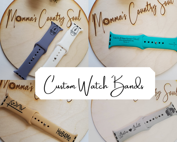 Custom Engraved Watch Bands