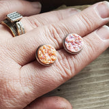 Peach or Pink 12mm Druzy Studs - Momma's Country Soul