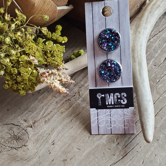 Midnight Express Druzy Studs - Momma's Country Soul