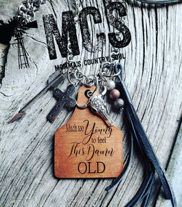 Much to young cattle tag pendant necklace - Momma's Country Soul