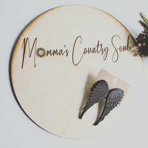 """Dark Angel"" wing studs - Momma's Country Soul"