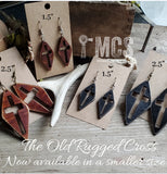 Old Rugged Cross laser cut wood earrings - Momma's Country Soul