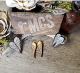 Angel wing studs - Momma's Country Soul