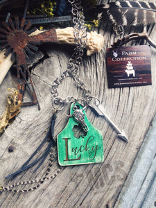 Lucky 🍀 Cattle tag pendant necklace - Momma's Country Soul