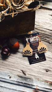 Windmill leather cattle tag earrings - Momma's Country Soul