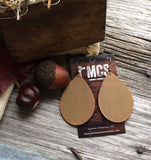 Rustic leather teardrops- multiple colors - Momma's Country Soul