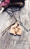 Laser engraved wood cattle tag- Cow - Momma's Country Soul