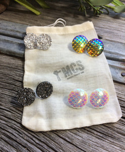 Large Druzy studs - Momma's Country Soul